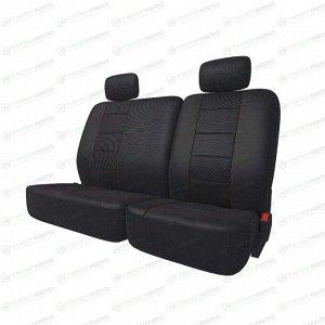 Чехлы CARFORT NEOCLASSIC для задних сидений, ткань, черный цвет, 9 предметов