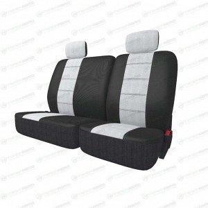 Чехлы CARFORT NEOCLASSIC для задних сидений, ткань, черный/серый цвет, 9 предметов