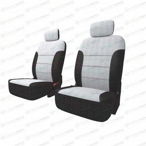 Чехлы CARFORT NEOCLASSIC для передних сидений, ткань, черный/серый цвет, 10 предметов