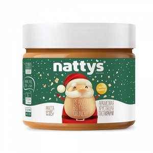 "Паста арахисовая ""New year"" с кусочками арахиса и мёдом Natty's"