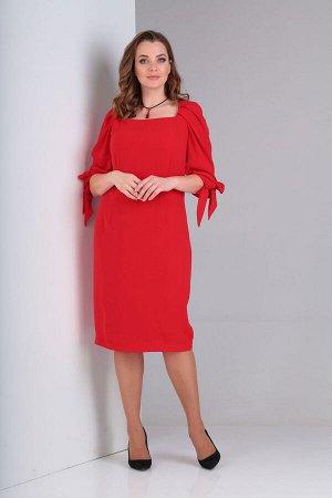 Платье Платье VIOLA 0929  Состав: ПЭ-30%; Хлопок-65%; Эластан-5%; Сезон: Лето Рост: 164  Платье женское, нарядное, прилегающего силуэта на подкладке. Вырез горловины прямоугольной формы обработан обт