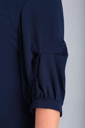 Платье Платье VIOLA 0938 синий  Состав: ПЭ-22%; Хлопок-76%; Эластан-2%; Сезон: Осень-Зима Рост: 164  Платье женское, нарядное, прилегающего силуэта на подкладке. Вырез горловины фигурный переходящий