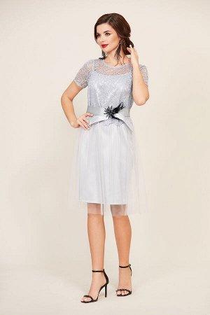Платье Платье Temper 300 №2  Состав: ПЭ-97%; Спандекс-3%; Сезон: Осень-Зима Рост: 164  Красивое нарядное платье состоящее из двух предметов. Нижнее платье полуприлегающего силуэта, а верхнее - свобод