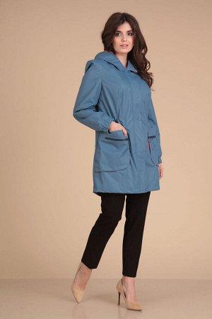 Пальто Пальто VIOLA 6019 голубой  Состав: ПЭ-100%; Сезон: Осень-Зима Рост: 164  Пальто женское прямого силуэта. По переду пальто с центральной застежкой на молнию и на три кнопки. По переду расположе