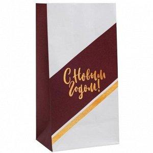 Пакет для сладостей «С новым Годом!» 10х19,3х7 см
