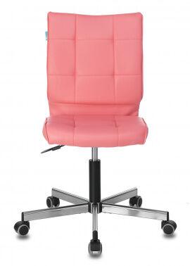 Кресло Бюрократ CH-330M без подлокотников розовый Lincoln 205 искусственная кожа крестовина металл