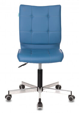 Кресло Бюрократ CH-330M без подлокотников синий Orion-03 искусственная кожа крестовина металл