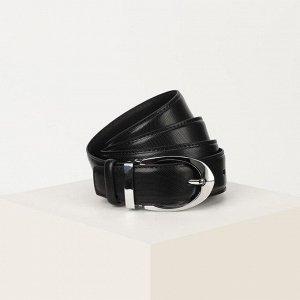 Ремень женский, ширина 3,5 см, пряжка металл, цвет чёрный