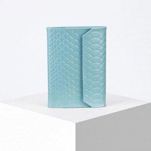 Обложка для автодокументов, цвет голубой