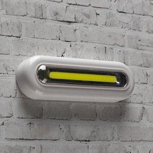Фонарь-светильник COB, 3 ААА, 3 Вт, 160 лм, на клейкой ленте, 4.4х2.8х13.8 см