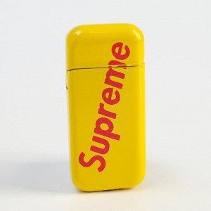 Зажигалка газовая Supreme, кремний, с регулятором 5х2.5 см, микс