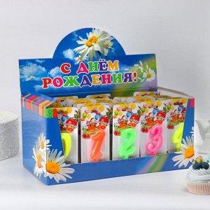 """Шоу-бокс со свечами для торта цифры """"Мармеладки"""" 50 штук 1568449"""