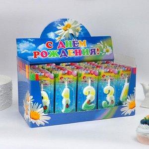 """Шоу-бокс со свечами для торта цифры """"Ромашки"""" 50 штук 1568446"""