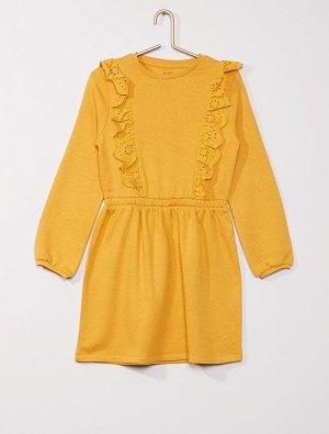 Платье-толстовка из мольтона