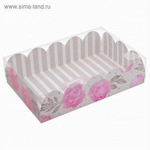 Коробка подарочная с PVC-крышкой «Нежность», 20 × 30 × 8 см