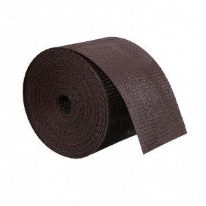 Лента бордюрная, 0.1 ? 10 м, толщина 1.2 мм, пластиковая, коричневая, Greengo