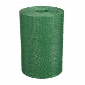 Лента бордюрная, 0.2 ? 10 м, толщина 1.2 мм, пластиковая, зелёная, Greengo