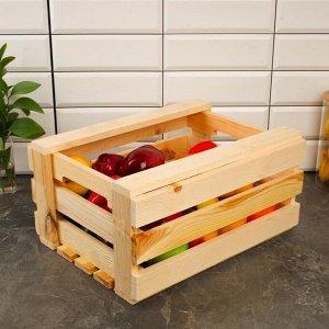 Ящик для овощей и фруктов, 40 ? 30 ? 20 см, деревянный