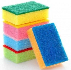 Губка для мытья и чистки посуды с нейлоном, 5 шт 28398kh