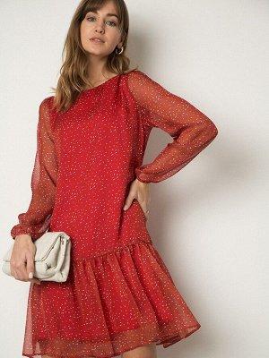 Шифоновое платье с принтом PL1105/kaufman