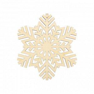 Деревянная заготовка Снежинка средняя 8*7см