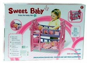 25300А кроватка д/кукол, в коробке 3+