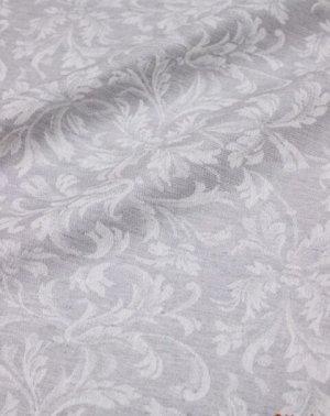 "Ткань жаккард ""Перепев"" цв.серый, шир.1.6м, лен-44%, хлопок-56%, 230гр/м.кв"