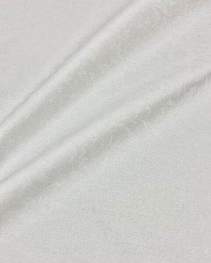 "Ткань жаккард ""Перепев"" цв.белый, шир.1.58м, лен-9%, хлопок-91%, 230гр/м.кв"
