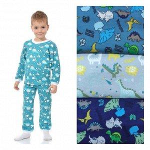 Пижама детская кулир длинный рукав