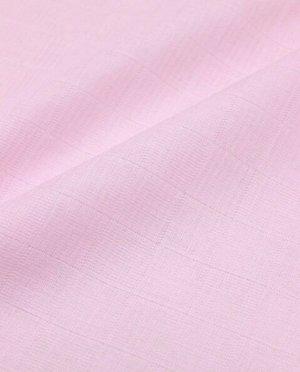 Муслин двухслойный цв.Светло-розовый, ш.1.35м, хлопок-100%, 100гр/м.кв