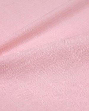 Муслин двухслойный цв.Коралловый светло-розовый, ш.1.35м, хлопок-100%, 100гр/м.кв