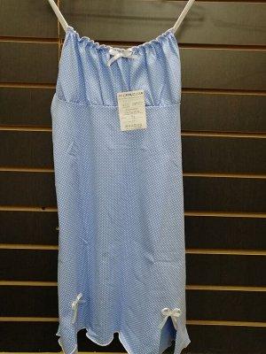 Сорочка женская, голубой с белым горошком