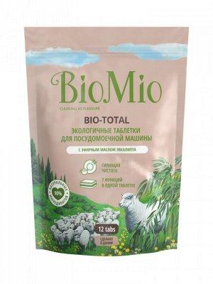 Таблетки для посудомоечной машины BioMio Bio-Total с маслом эвкалипта, 12 шт.