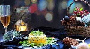 Тартар из гребешка с манго и маракуйей