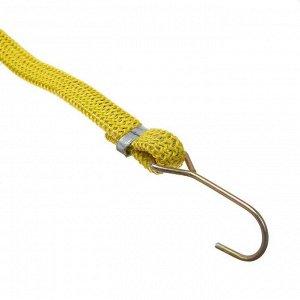 Резинка крепления TORSO 1.75х80 см, металлические крючки, микс, набор 2 шт