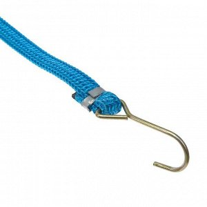 Резинка крепления TORSO 1.75х100 см, металлические крючки, микс, набор 2 шт