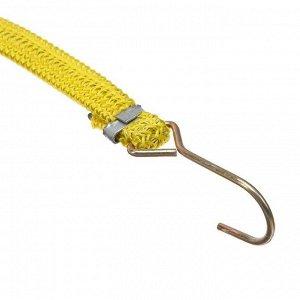 Резинка крепления TORSO 1.75х120 см, металлические крючки, микс, набор 2 шт