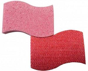 Набор губок из целлюлозы и PVC сетки, для посуды, 2шт