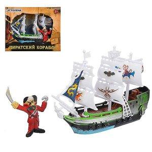 """Набор игровой """"Пиратский корабль и команда"""" мини"""