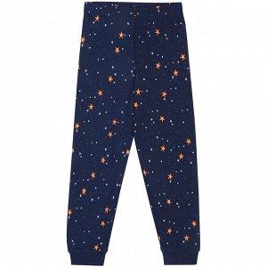 Пижама для девочки, т.синий набивка звёзды