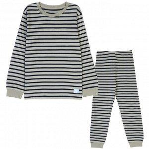 Пижама для мальчика, хаки полоска