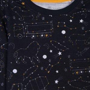 Пижама для мальчика, т.серый набивка