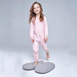Комбинезон для сна для девочки, розовый сердечки