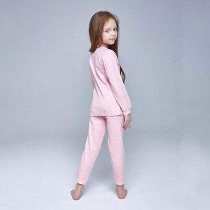 Пижама для девочки, розовый сердечки