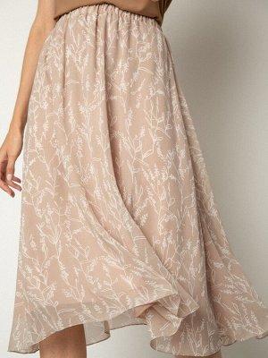 Шифоновая юбка на резинке