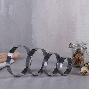 """Набор форм для выпечки и выкладки """"Круг"""", D-10, H-2 см, 4 шт."""