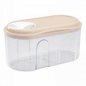 Банка для сыпучих продуктов пластмассовая 0,5л, 15х8х7,5см.