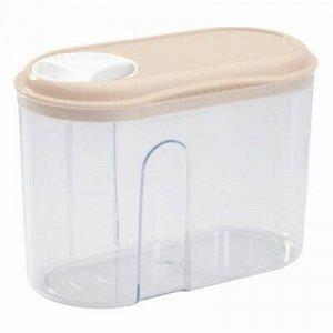 Банка для сыпучих продуктов пластмассовая 0,75л, 15х8х10,5см