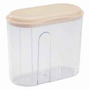 Банка для сыпучих продуктов пластмассовая 1л, 15х8х13см, беж