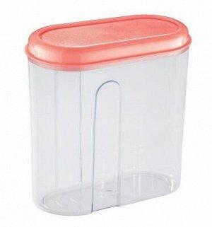 Банка для сыпучих продуктов пластмассовая 2,8л, 18х10х22см.
